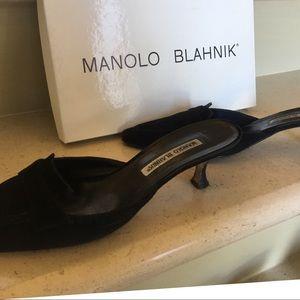 Manolo Blahnik Slides